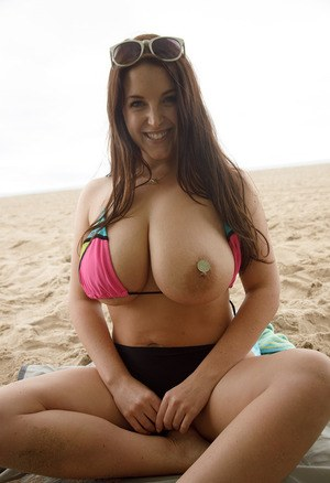 Natural boobs on the beach consider